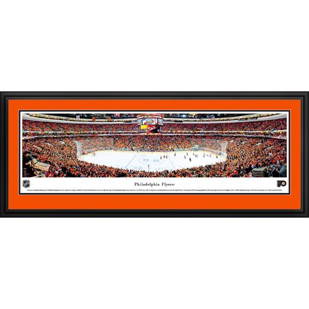 Philadelphia Flyers Center Ice at Wells Fargo Center Blakeway Panoramas NHL Print with Deluxe Frame and Double Mat by