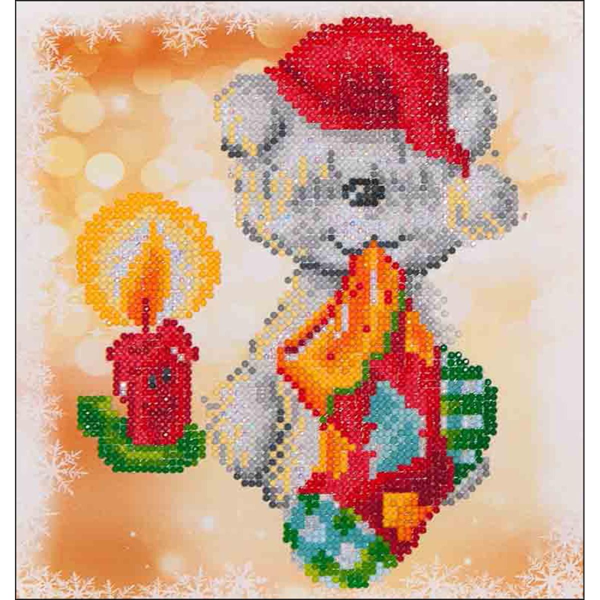 "Diamond Dotz Diamond Embroidery Facet Art Kit 11""X11.75""-Puppy Stocking"