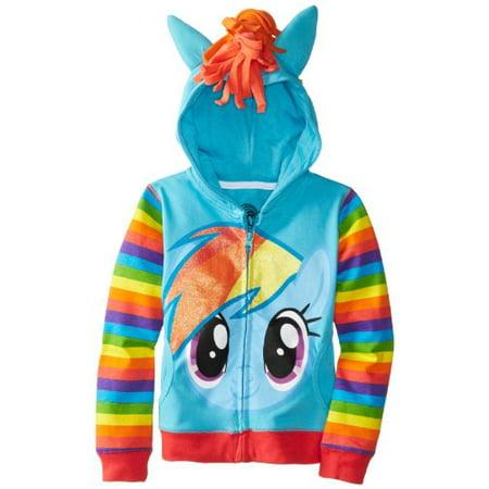 My Little Pony Big Girls' Rainbow Dash Hoodie 7/Small - My Little Pony Hoodie
