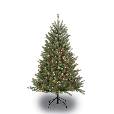 Puleo International 4.5 ft.Pre-Lit Fraser Fir Artificial Christmas Tree with 250 Multi-Colored UL listed