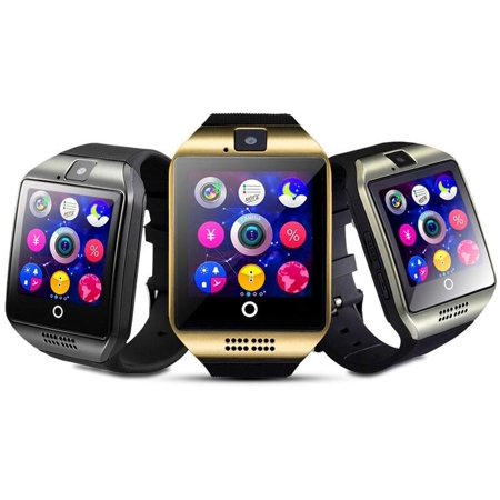 Amazingforless (V-400) Premium Gold Bluetooth Smart Wrist Watch Phone mate  for Android Samsung HTC LG Touch Screen with Camera