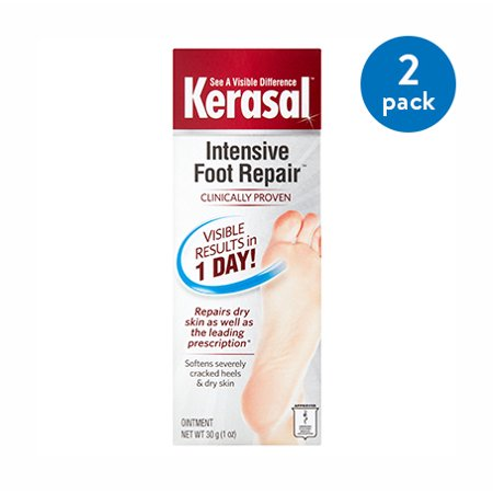 Foot Balm 2 Oz Tin - (2 Pack) Kerasal One Step Exfoliating Moisturizer Foot Therapy, 1 oz