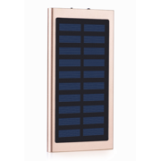 Slim 2 USB Portable Battery Charger Solar Power Bank For Phone Gold 900000mAh