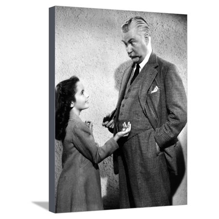 Elizabeth Taylor / Nigel Bruce LASSIE COME HOME, 1943 directed by FRED M. WILCOX (b/w photo) Stretched Canvas Print Wall Art