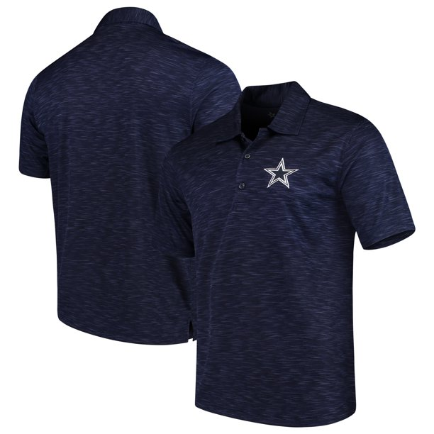 Men's Heathered Navy Dallas Cowboys Drakar Polo