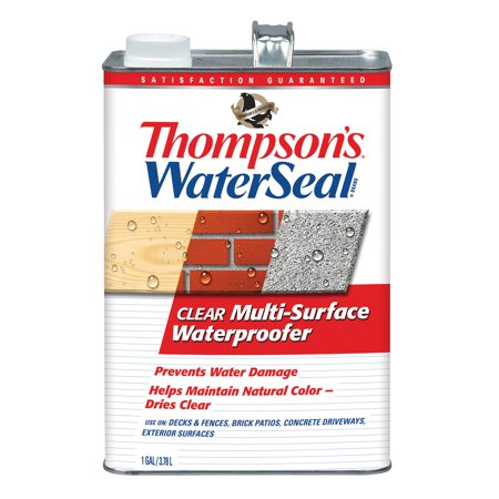 Thompson's WaterSeal Multi-Surface Waterproofer, Clear, 1-Gal Faux Stain Concrete