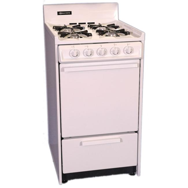 Brown - WNM110-7 - 20 Inch - Gas Range - GloBar Ignition - White