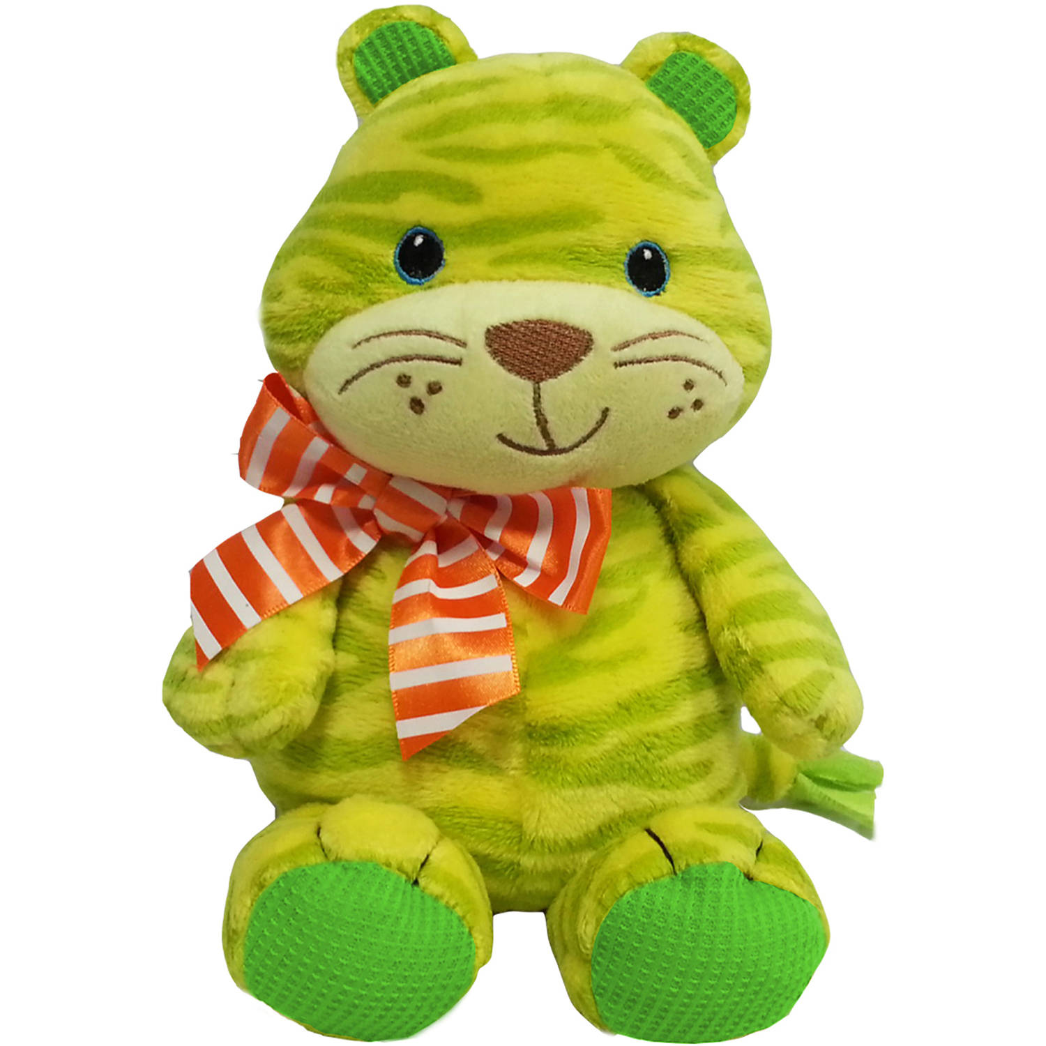 "First and Main 7"" Baby Bright Tiger Plush"