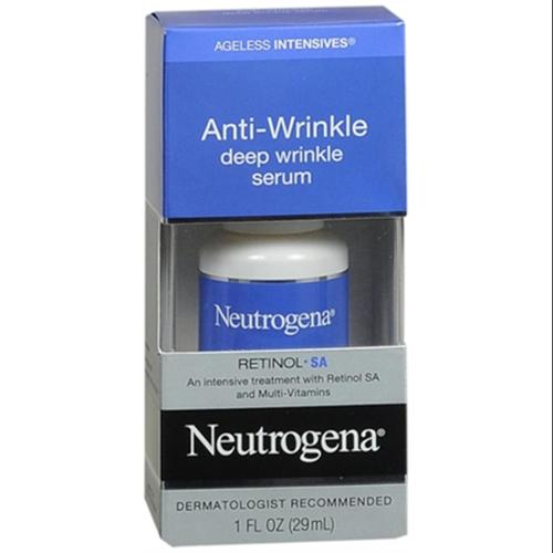 Neutrogena Ageless Intensives Anti-Wrinkle Deep Wrinkle Serum 1 oz (Pack of 4)