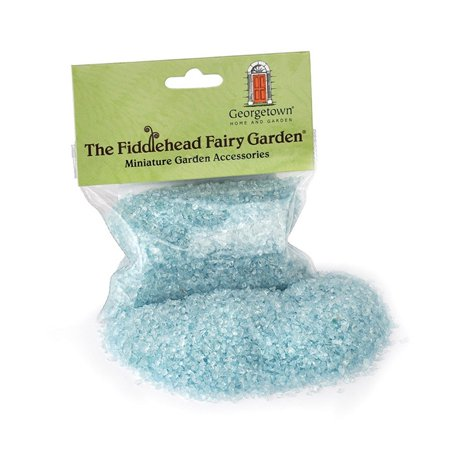 Miniature Fairy Garden Glass (Blue), Create stunning borders, wonderful water features, sparkling snow drifts, shimmering beaches and more. By Georgetown Home and Garden