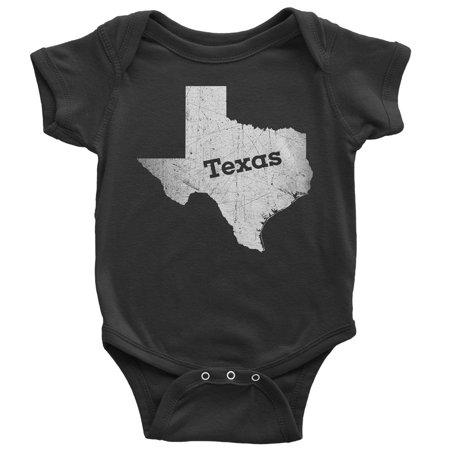 18-24 Months / Black Texas Baby Bodysuit Home Shirt
