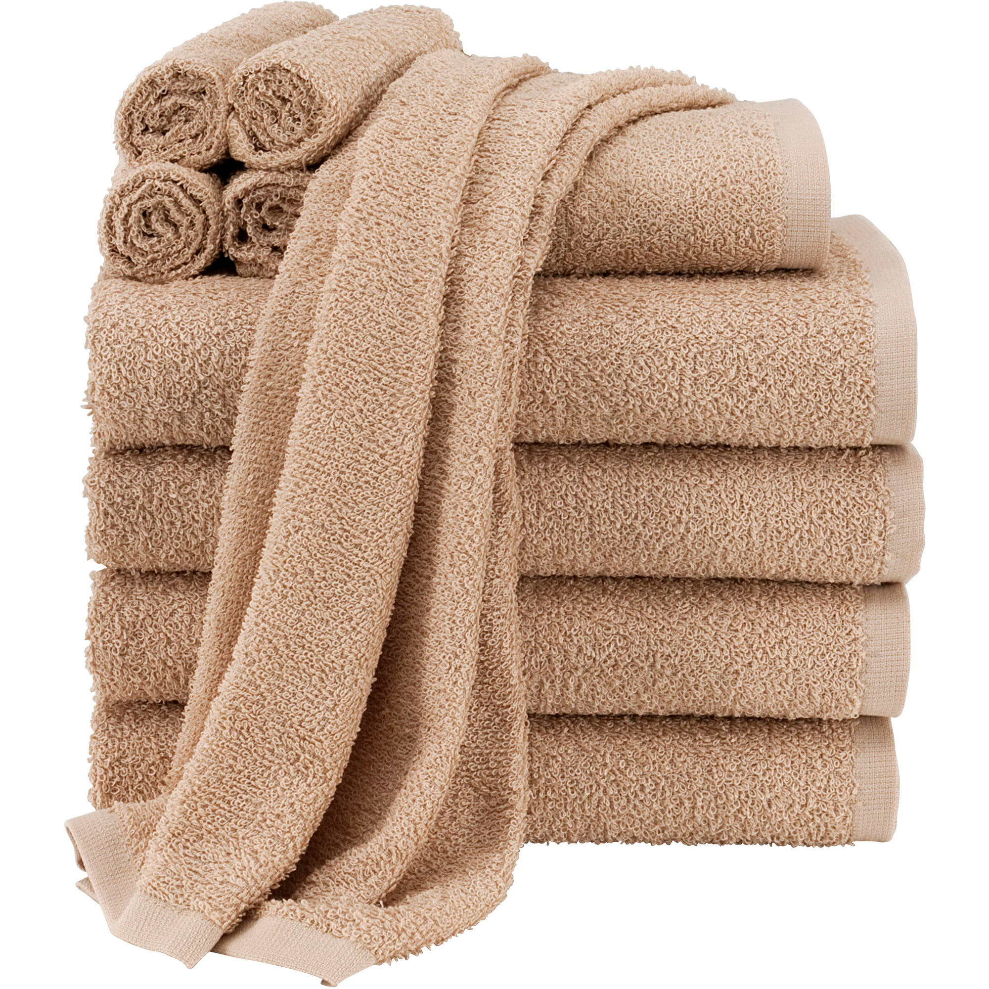 Bathroom Sign At Walmart mainstays 100% cotton gtp hand towel - vallejo tan - walmart
