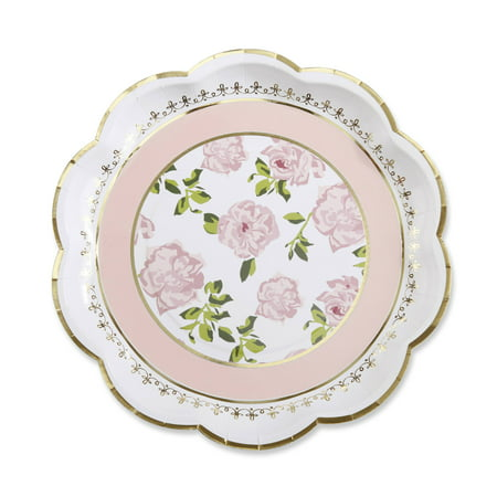 Tea Time Whimsy Paper Plates - Pink (Set of 8) ()