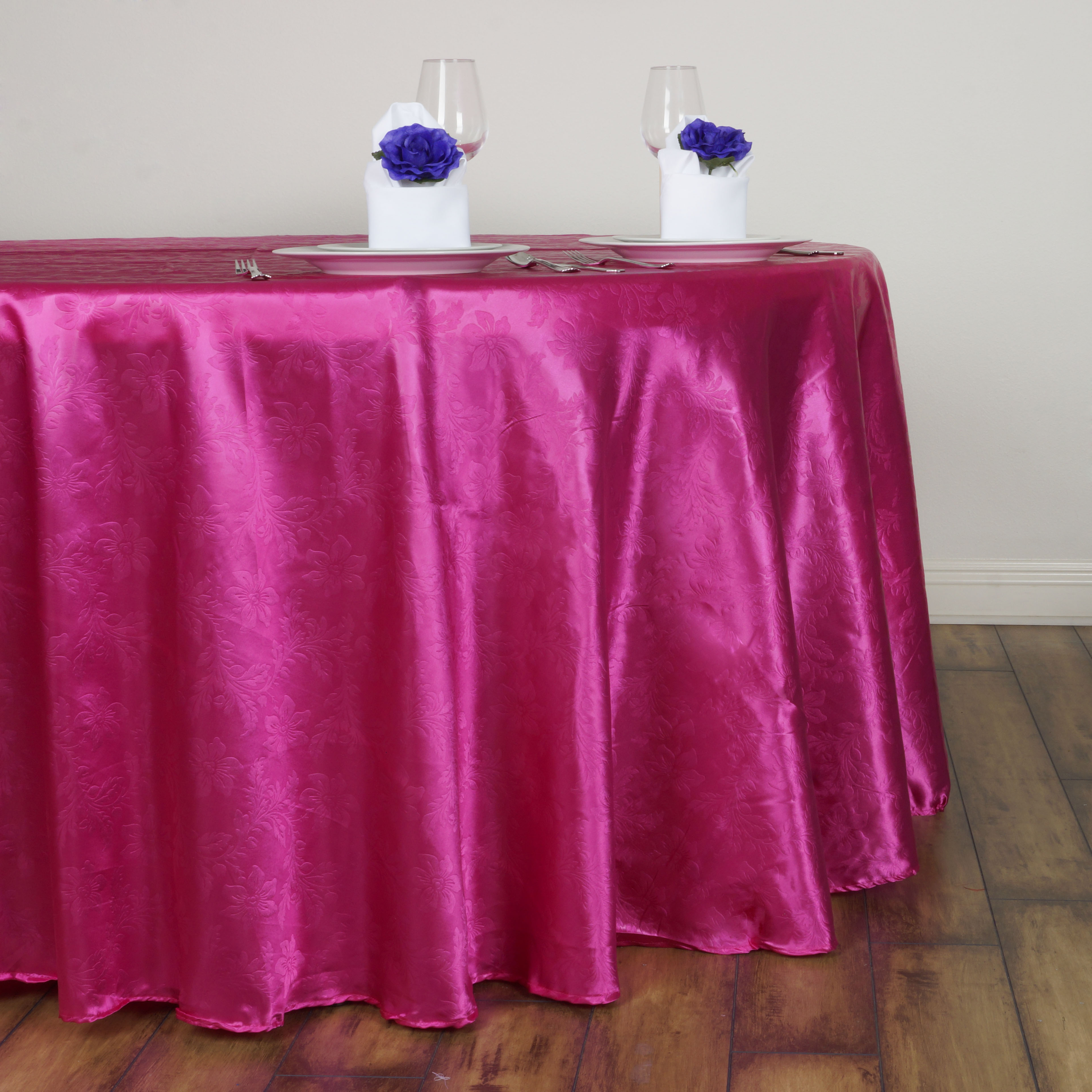 """BalsaCircle 120"""" Round Embossed Flowers Satin Tablecloth for Party Wedding Reception... by BalsaCircle"""