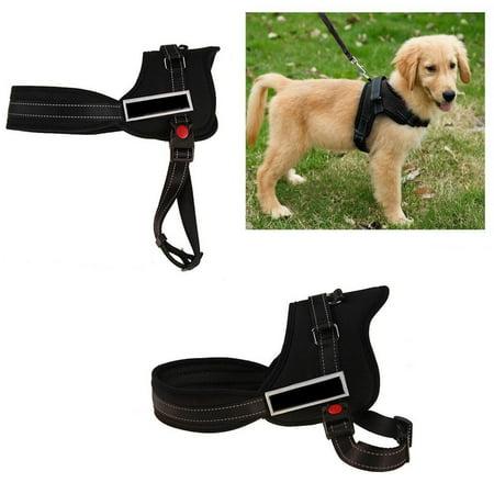 Denim Dog Harness Vest - Dog Padded Vest Harness Soft Strong Nylon No-Pull Pet Adjustable Harness