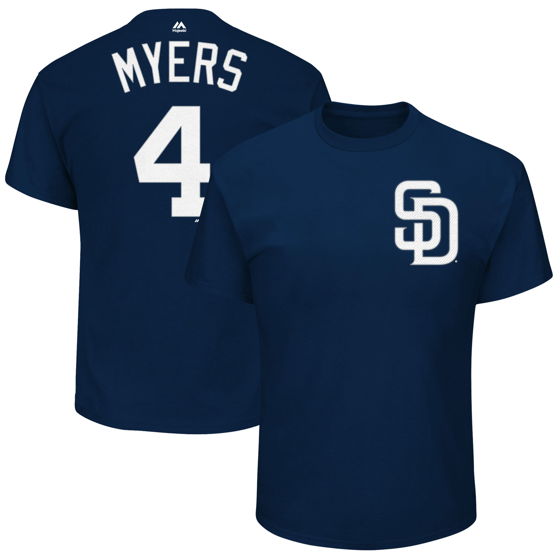 Wil Myers San Diego Padres Majestic Official Name & Number T-Shirt - Navy