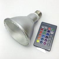 10W 20W Par30 Par38 LED RGB Spotlight Bulb Outdoors Water-Resistant Color Changing Magic Bulb Color Temperature:Par3010W RGB