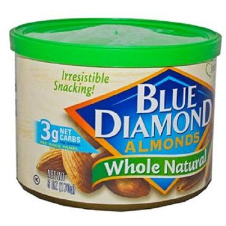 Product Of Blue Diamond, Almonds Whole Natural Can, Count 1 - Nut & Dry Fruit / Grab Varieties &