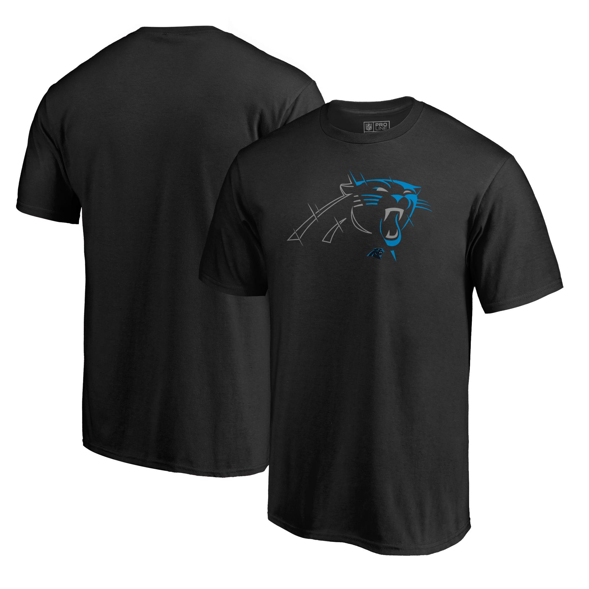 Carolina Panthers NFL Pro Line by Fanatics Branded X-Ray T-Shirt - Black