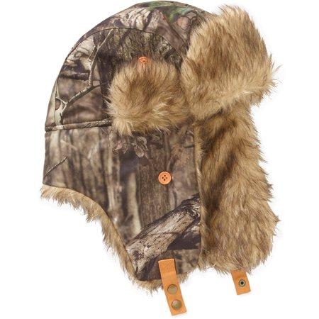 Men S Mossy Oak Faux Fur Trapper Hat Walmart Com
