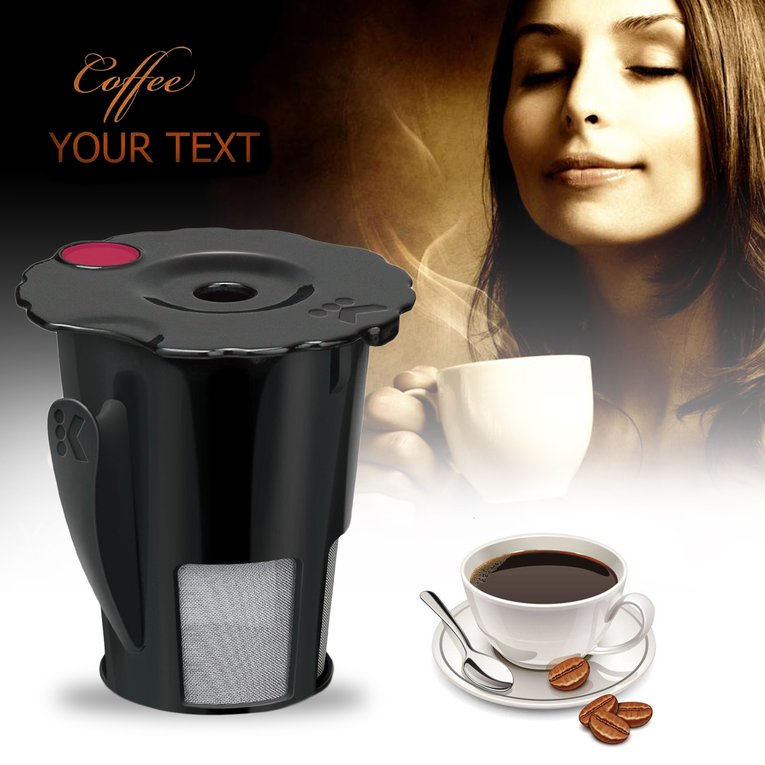 Black Eco-Friendly Coffee Filter Cup Reusable Filter Convenient Coffee Filter With Cup