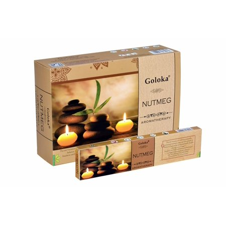 Goloka Aroma Nutmeg series collection incense sticks- 6 boxes of 15 gms (Total 90 gms) (Incense Series)