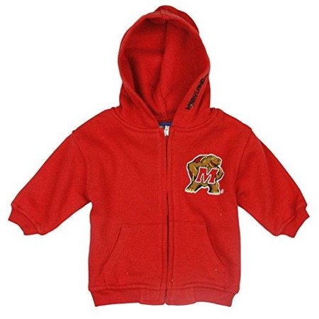 NCAA College Infants Maryland Terrapins Full Zip Up Fleece Hooded Sweatshirt Hoodie