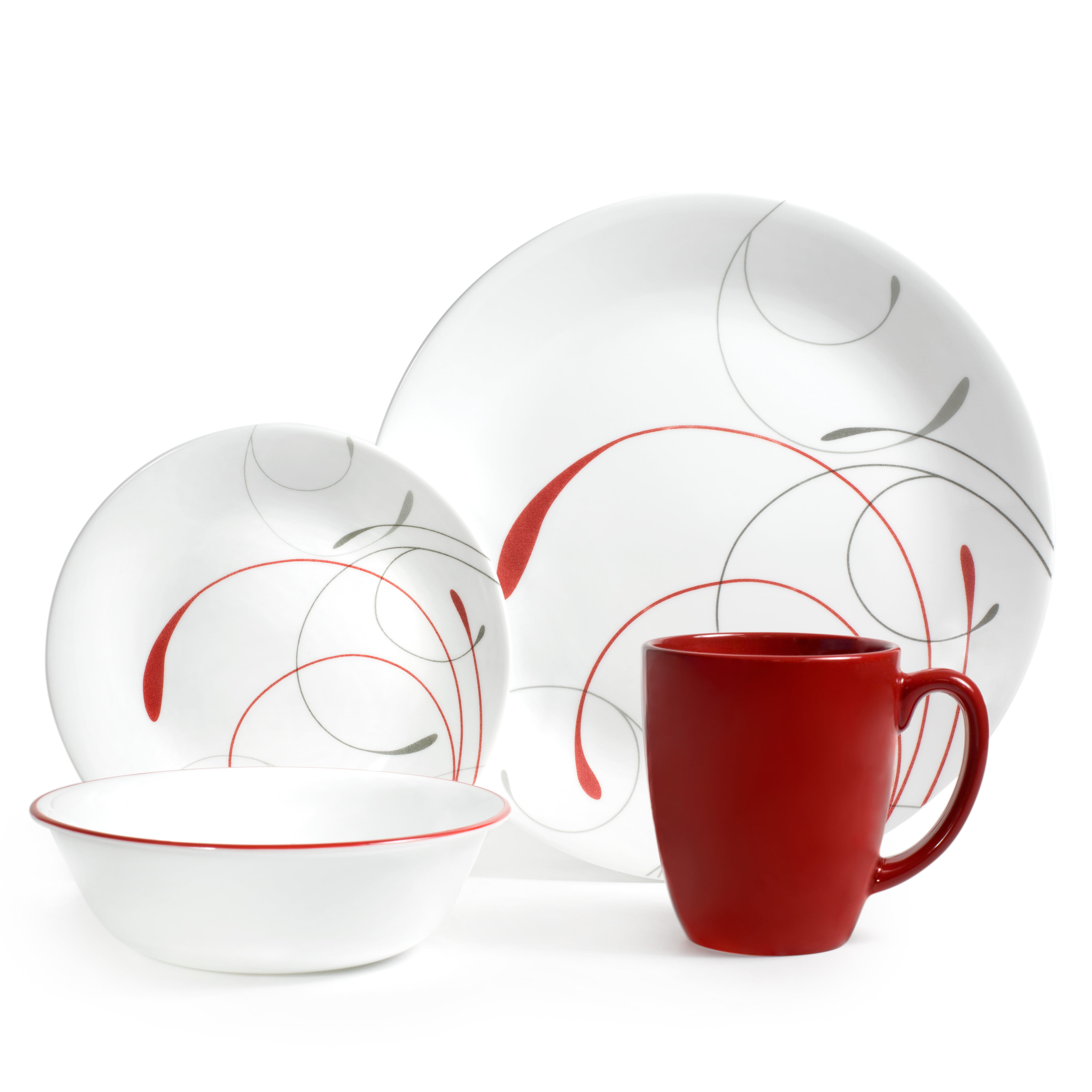 Corelle Livingware Splendor 16-piece Dinnerware Set Round Stoneware Oven Safe  sc 1 st  eBay & Corelle Livingware Splendor 16-piece Dinnerware Set Round Stoneware ...