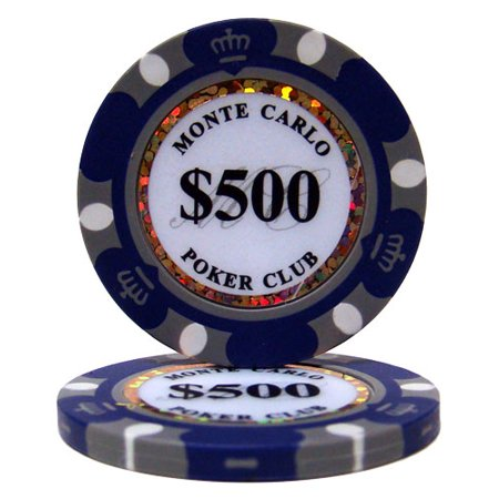 $500 Monte Carlo 14 Gram Poker Chips Monte Carlo Game Table