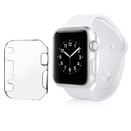 Protective Crystal Hard Case (Insten For Apple Watch iWatch 38mm Series 1 Sport Edition Clip-on Hard Protective Crystal Case Clear Black )