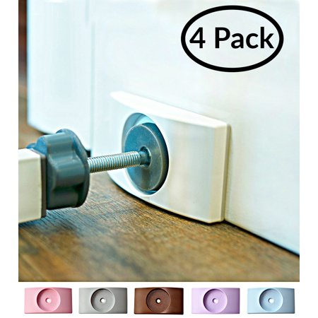 Wall Nanny (4 Pack) Indoor Baby Gate Wall Protector - No Safety Hazard on Bottom Spindles - Small Saver Pad Saves Trim & Paint - Best Dog Pet Child Walk Thru Pressure Gates
