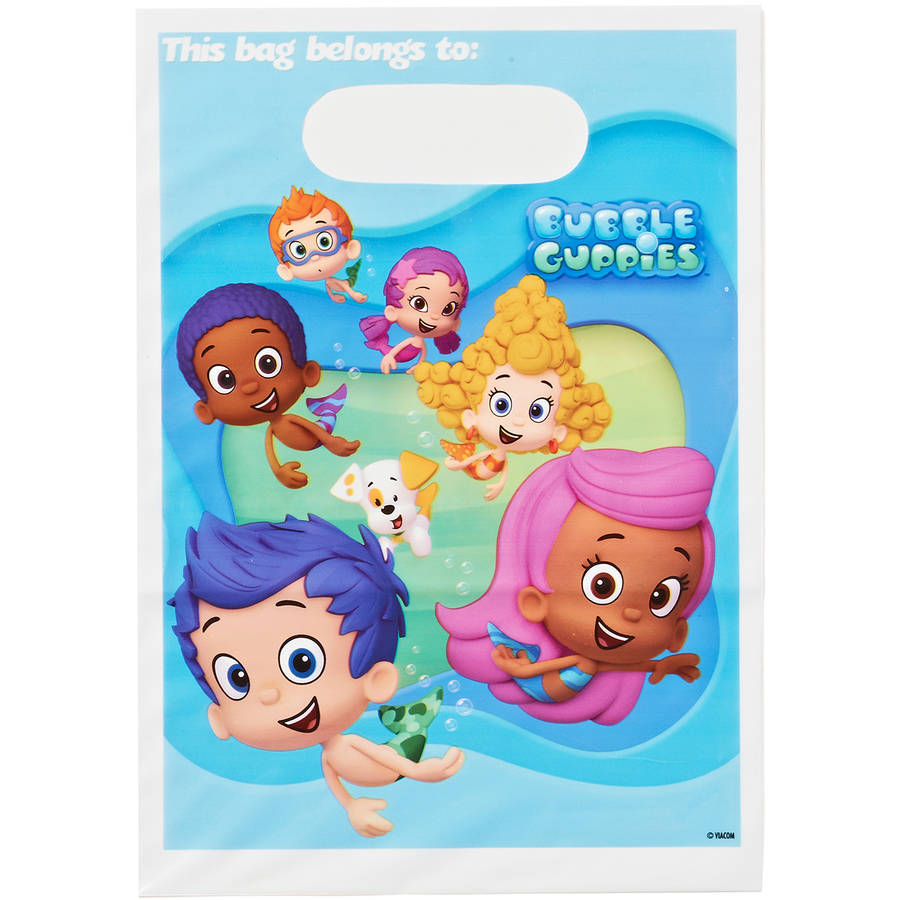 Bubble Guppies Party Favor Treat Bags, 8ct