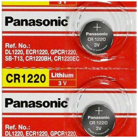 Panasonic CR1220 3V Lithium Coin Battery - 2 Pack + 30% Off! 2 Pack 2000mah Battery