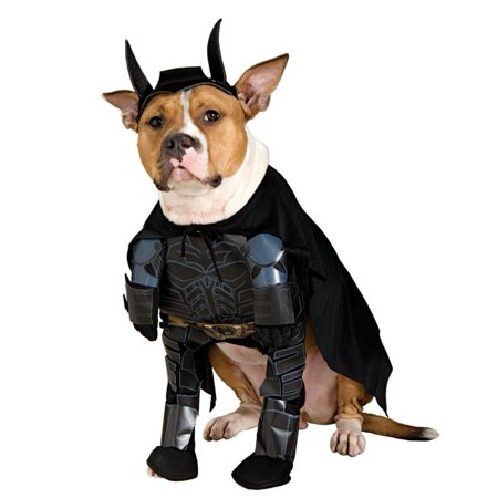 Rubies Dog Batman Costume Bat Man Pet Outfit Jumpsuit & - Pet Bat