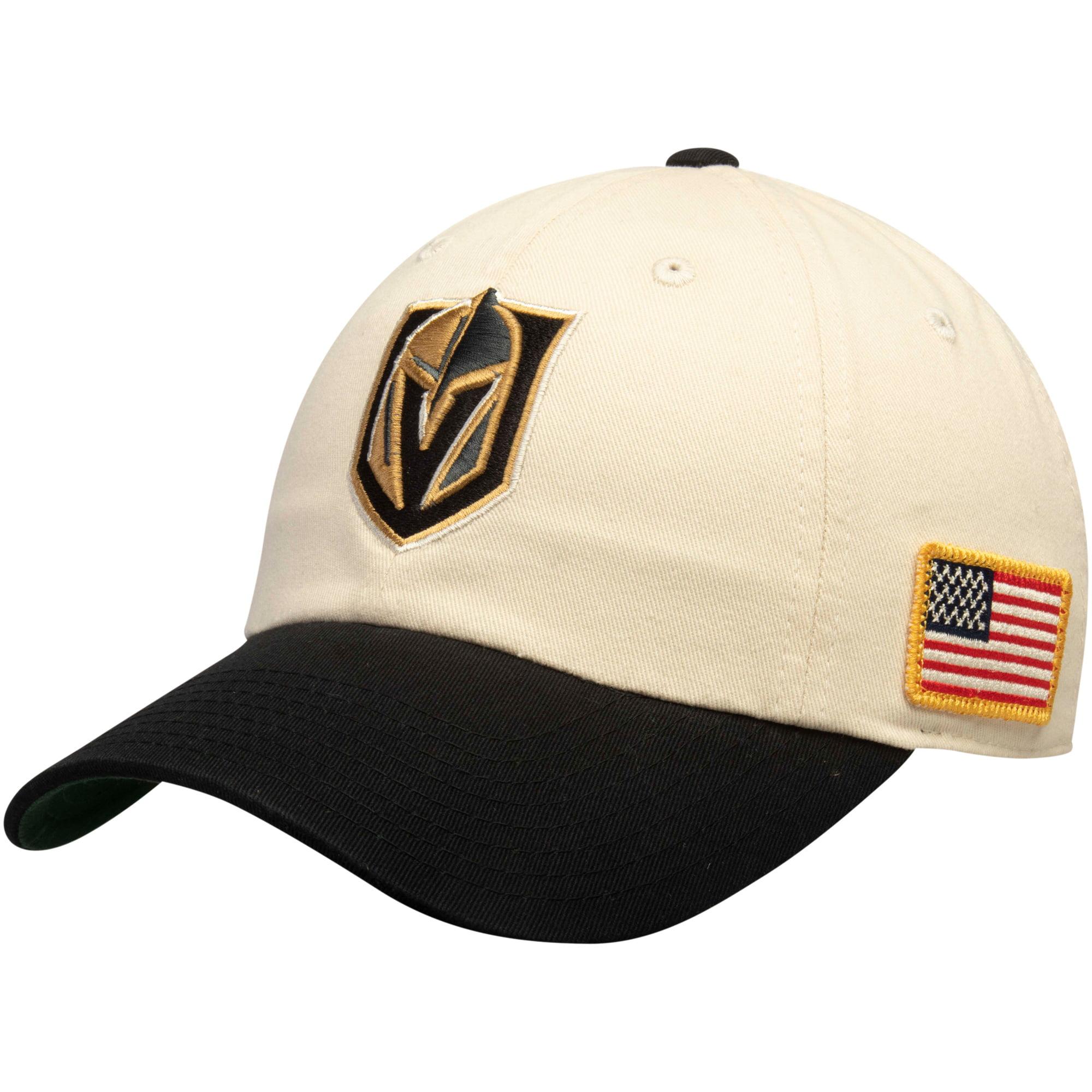 Vegas Golden Knights American Needle United Slouch Adjustable Hat - Cream/Black - OSFA