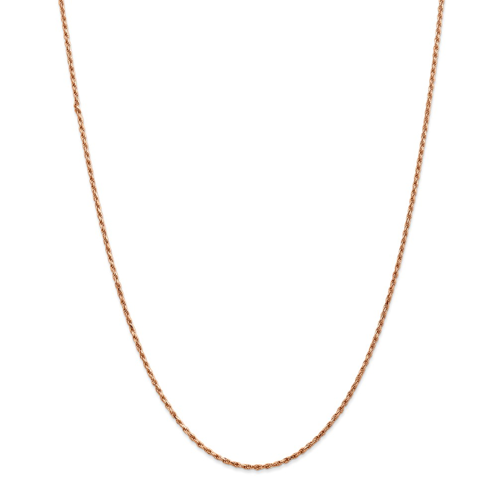 Fine Jewelry 14K White Gold Glitter 1.8mm Rope Chain Necklace NKj5wLK