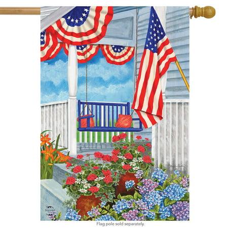 patriotic porch spring house flag floral 28