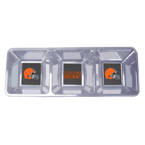 ***P95***NFL Browns Clear Snack Tray