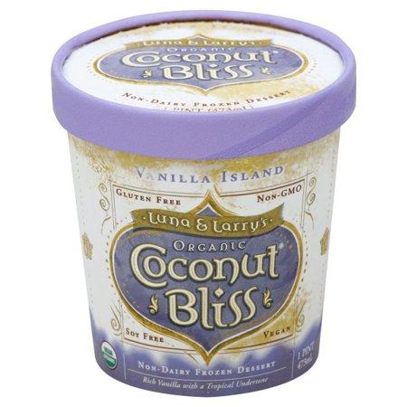 75607f11e592 Luna & Larry's Coconut Bliss Frozen Non-Dairy Dessert - Vanilla Island -  Walmart.com