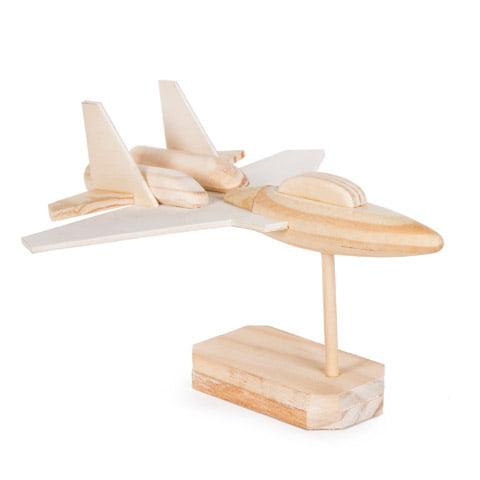 Woodmodelkit Jet Fighter