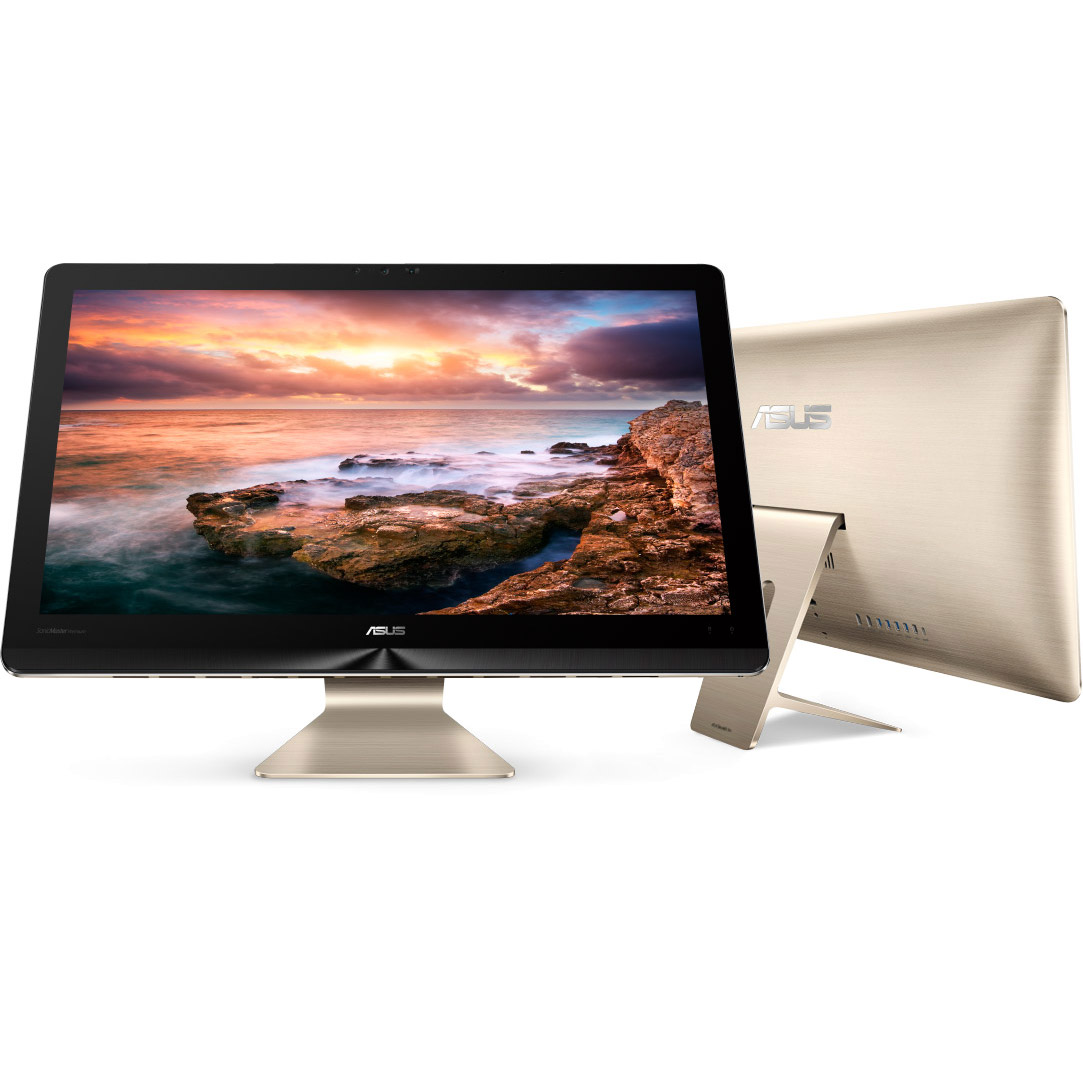 "Asus Z240ICGT-11 Zen AiO Pro 23.8"" 4K Ultra HD Touch-Screen All-In-One Intel Core i7 12GB Memory 1TB HDD + 8GB SSHD Icicle Gold"