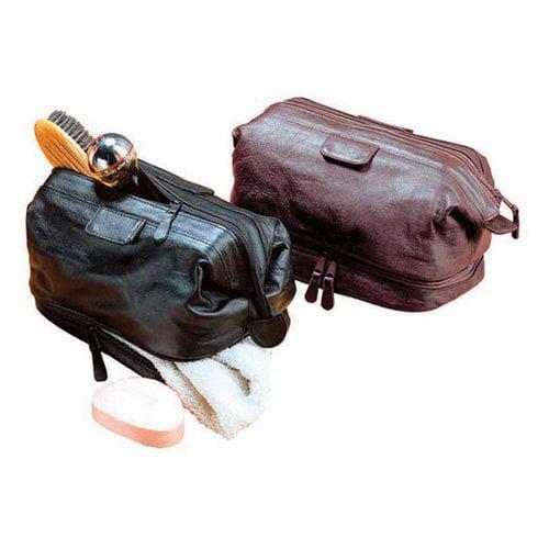 Winn International Cowhide Leather Travel Kit