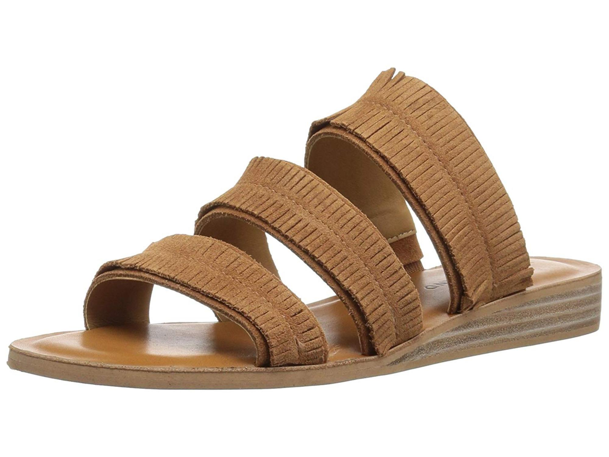 4a9a43511da Lucky Brand Womens Hegen Leather Open Toe Casual Slide