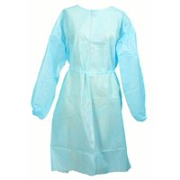 Fluid-Resistant Gown Medi-Pak Performance Blue One Size Fits Most Adult Elastic Cuff Disposable