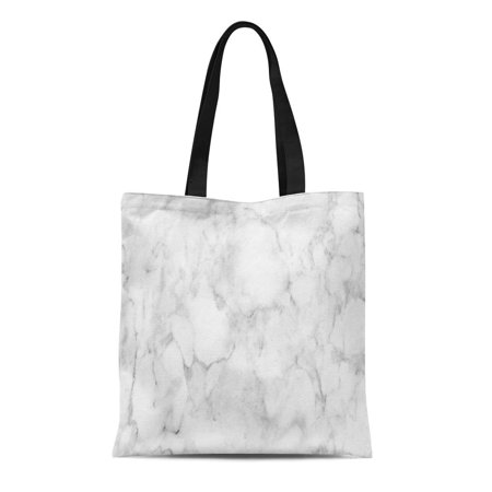 JSDART Canvas Tote Bag Gray Graphic White Marble Pattern Black Stone Architecture Abstract Durable Reusable Shopping Shoulder Grocery Bag - image 1 de 1