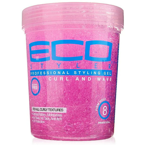 Eco Styler Professional Curl & Wave Firm Hold Styling Gel, Pink 32 oz