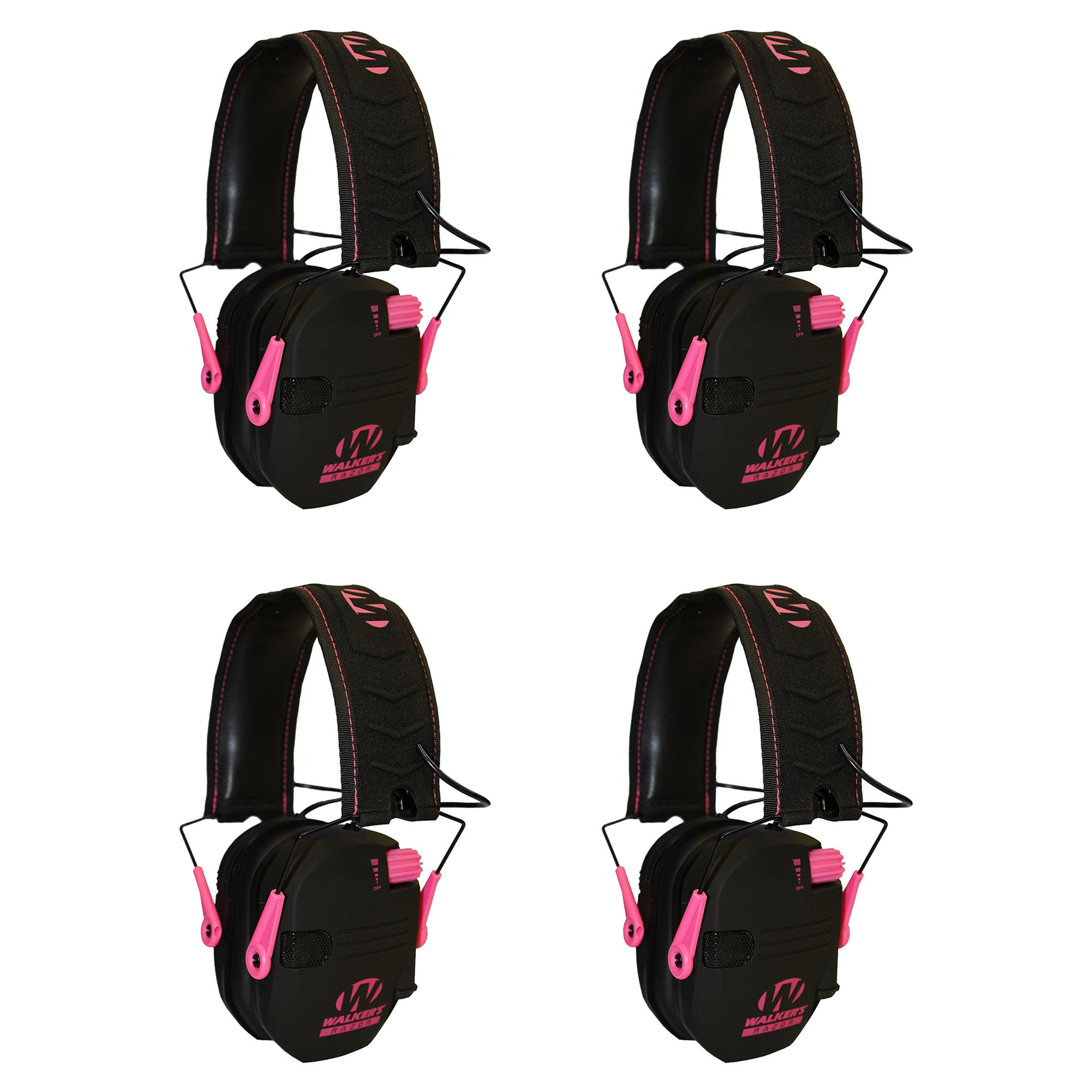 Walkers Razor Hearing Protection Pink Slim Shooter Foldin...