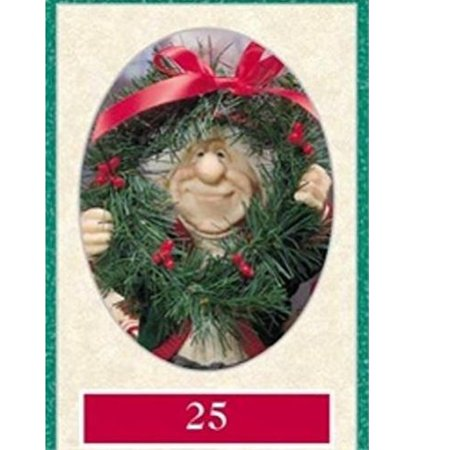 Zims 11 Number 25 Elf with Wreath Figurine 11 Inch (Zims Elves)