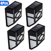 4-pack Solar Powered Wall Mount LED Light Outdoor Garden Path Landscape Fence Yard Lamp