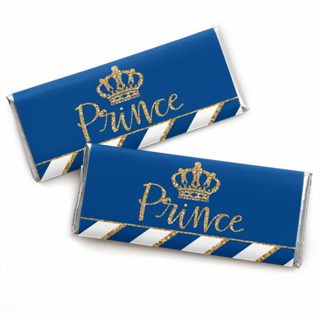 Royal Prince Charming - Candy Bar Wrapper Baby Shower or Birthday Party Favors - Set of 24](Baby Shower Prince Favors)